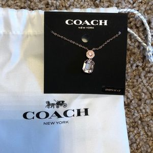 Coach Rose Gold Crystal Necklace